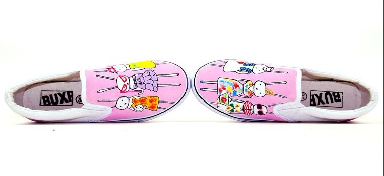 Bunny Lafi With Her Friends Kids/Family Hand Painted Shoes-1