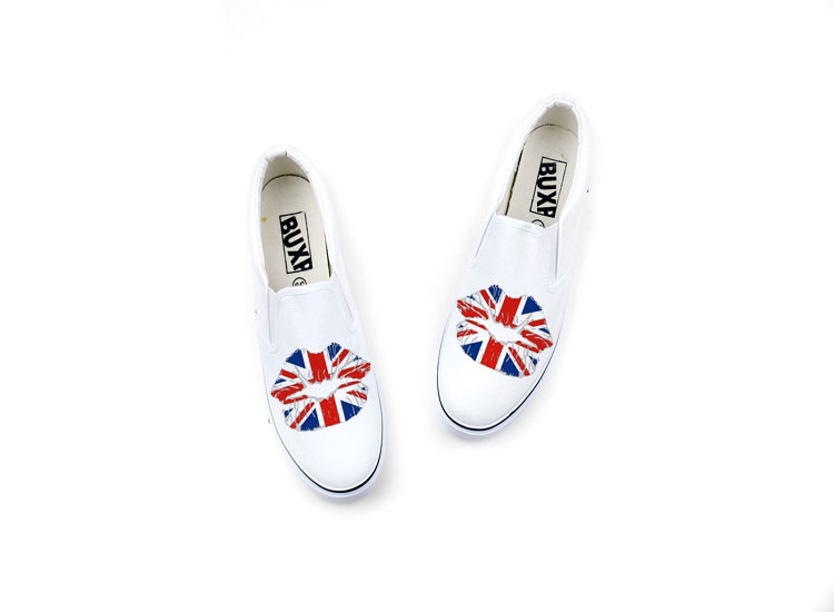 High-fashion Union Jack Hand Painted Shoes