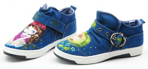 Princess's Dream High Painted Canvas Women Sneakers-1
