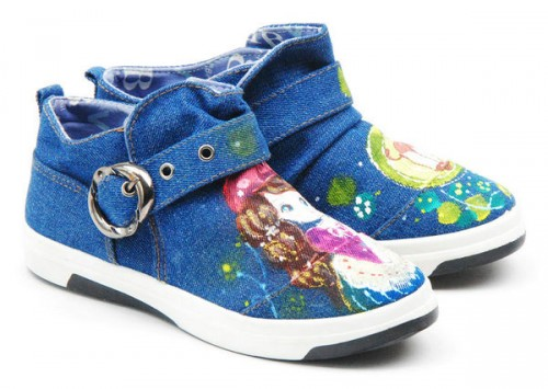 Princess's Dream High Painted Canvas Women Sneakers-2