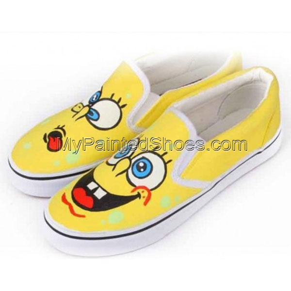 SpongeBob SquarePants Yellow 4 Painted Shoes