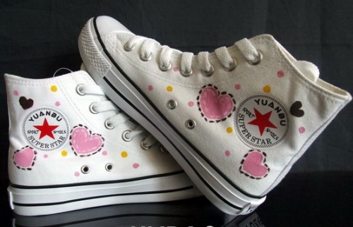 Hello Kitty White 2 Anime Shoes Hand Painted Canvas Shoes-3