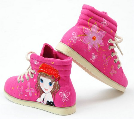 Painted Canvas Shoes Hoodwinked Pink Hand Painted Canvas Women S-2