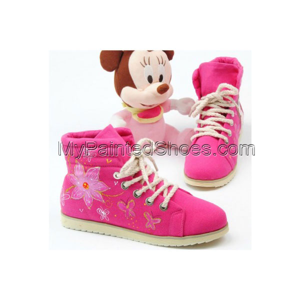 Painted Canvas Shoes Hoodwinked Pink Hand Painted Canvas Women S