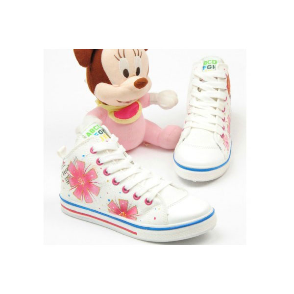 Beautiful Cartoon Girl White Hand Painted Canvas Shoes Anime Sho
