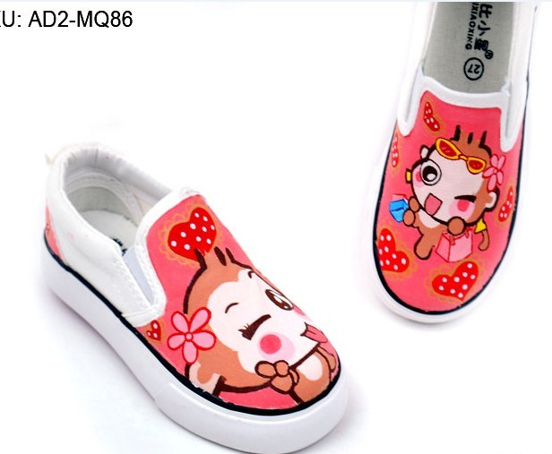 Anime YoCi Monkeys Hand Painted Canvas Shoes-2