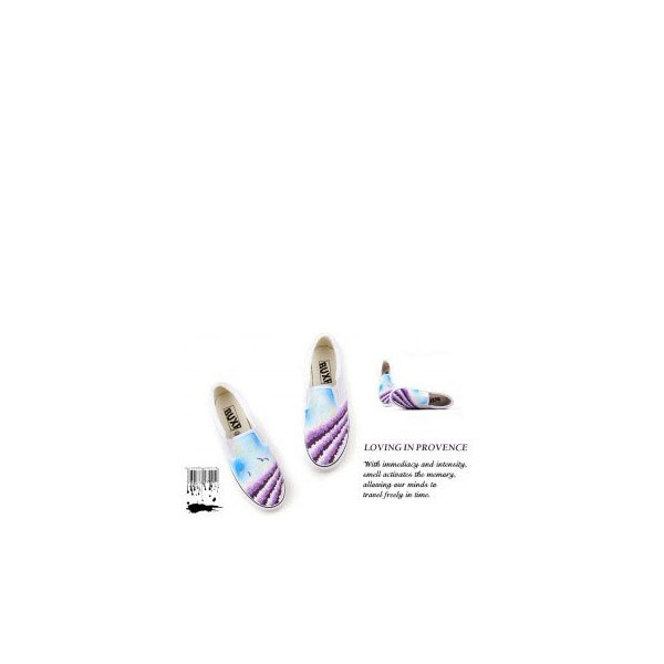 Provence Lavender Themed Slip-on Hand Painted Canvas Shoes