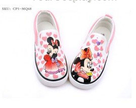 Mickey Mouse Themed Slip-on Family Hand Painted Canvas Shoes-3