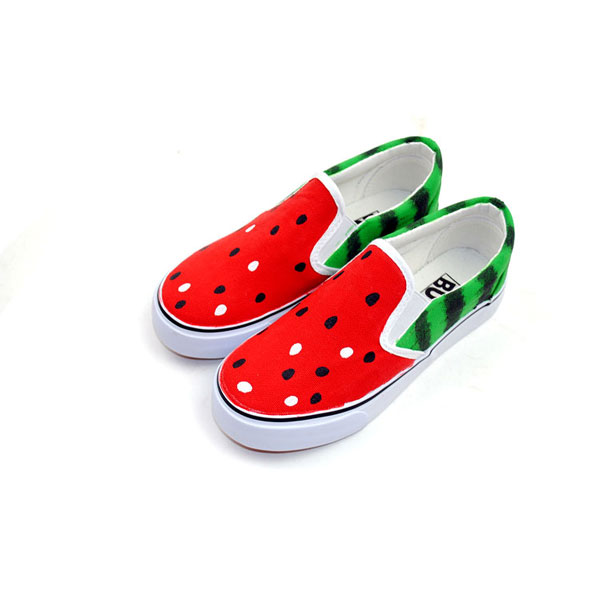 Watermelon Hand Painted Slip-on Canvas Shoes