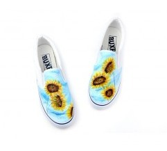 Fall In Love With Sunflower Hand Painted Canvas Shoes-2