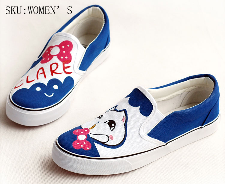 Baby Fox Clare Family Hand Painted Slip-on Canvas Shoes-1