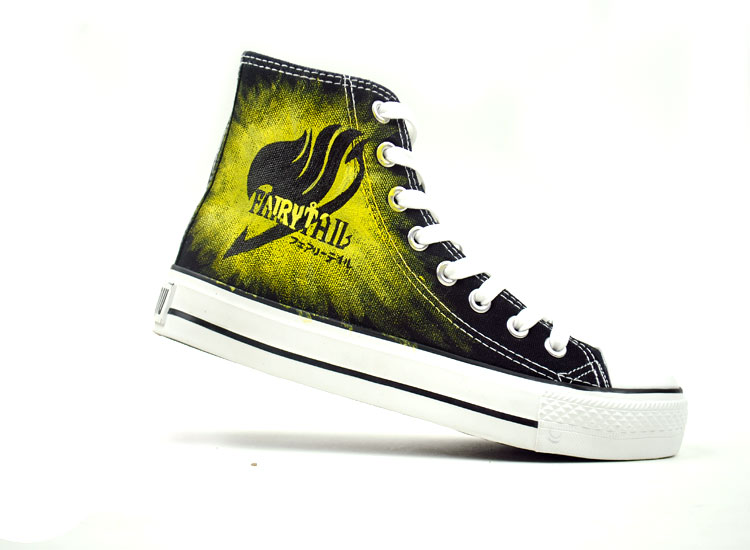 Fairy Tail Hand Painted Canvas Shoes Natsu Dragneel Shoes-1