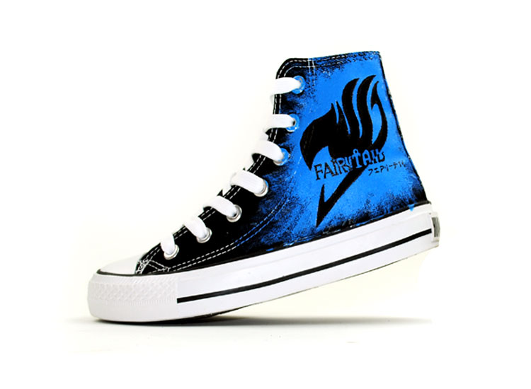Fairy Tail Canvas Shoes Jellal Fernandes Hand Painted Canvas Sho-1