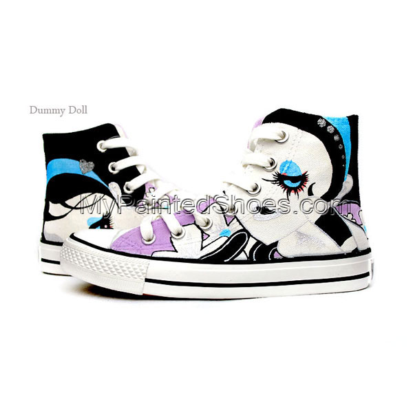 628f979b006fc2 Offbeat Dummy Doll High-top Hand Painted Canvas Shoess