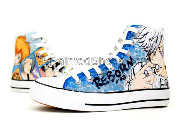 Anime Hitman Reborn High Top Hand Painted Canvas Shoes-2