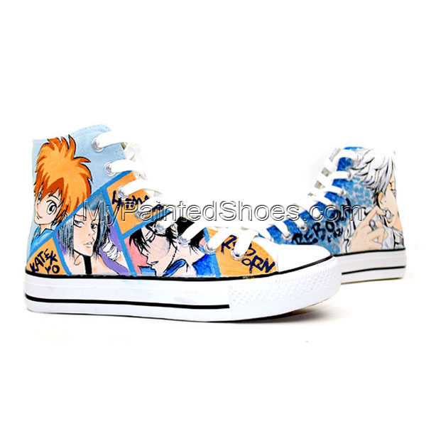 Anime Hitman Reborn High Top Hand Painted Canvas Shoes