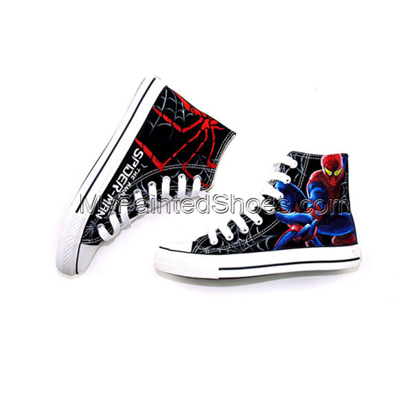 Amazing Spider Man High-top Custom Hand Painted Canvas Shoes