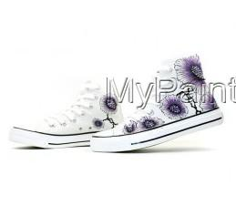 Colors of Ink Themed High-top Hand Painted Canvas Shoes-3