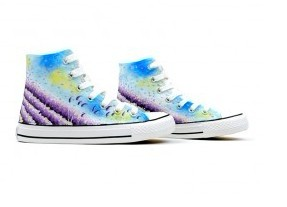 Painted Shoes Provence Lavender Painted Canvas Shoes-1