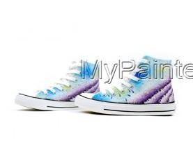 Painted Shoes Provence Lavender Painted Canvas Shoes-2
