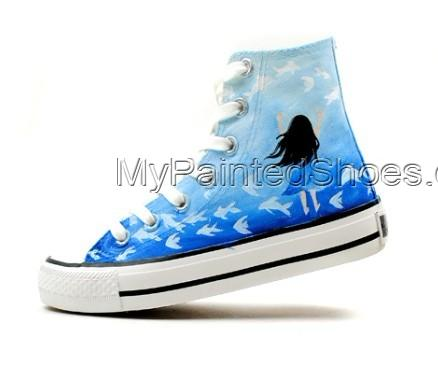 Dream Hand Painted High-top Canvas Shoes-2