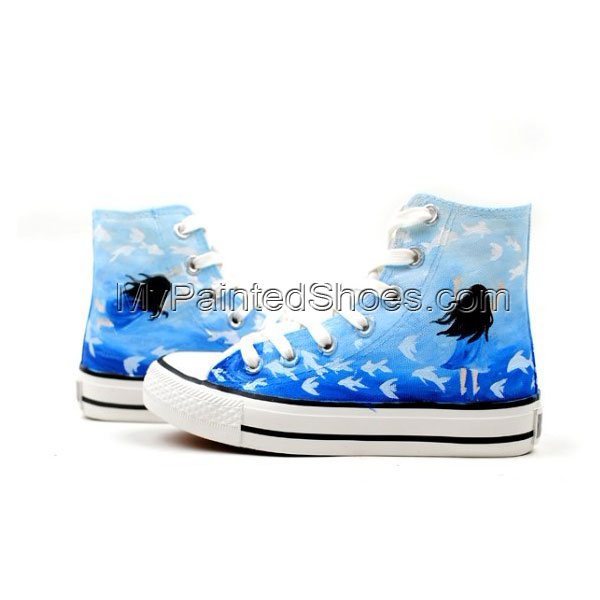 Dream Hand Painted High-top Canvas Shoes