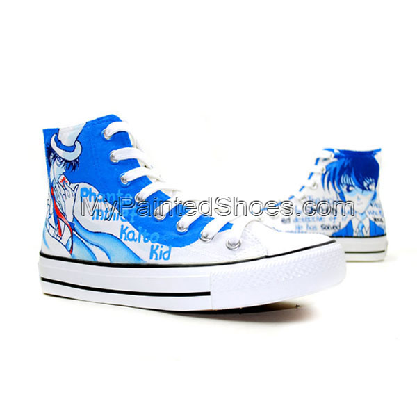 Detective Conan Anime Hand Painted High Top Canvas Shoes