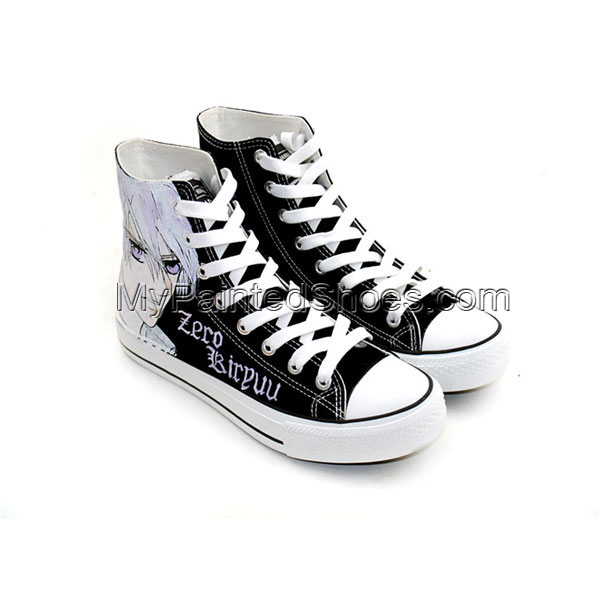 Anime Shoes Vampire Knight Zero Kiryu Painted Canvas Shoes