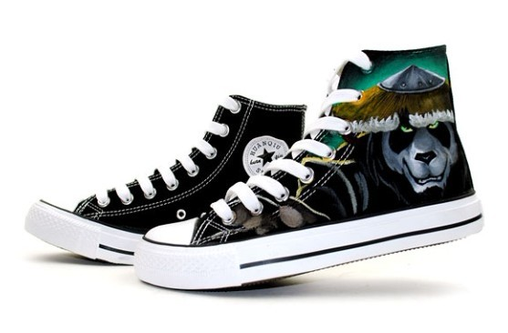 World of Warcraft Mists of Pandaria High Top Painted Canvas Shoe-1