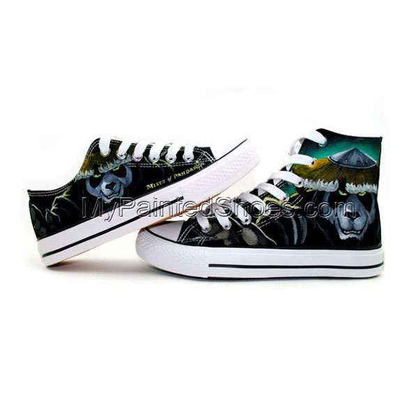 World of Warcraft Mists of Pandaria High Top Painted Canvas Shoe