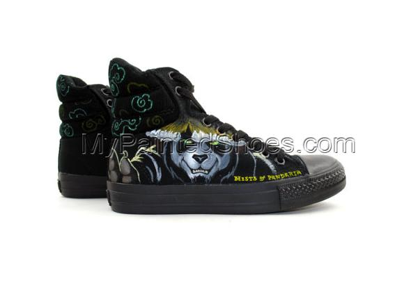 Painted Canvas Shoes World of Warcraft Mists Painted Shoes-3