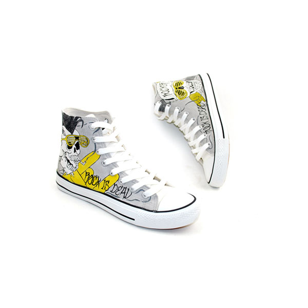 Punk Rock Style Design Hand Painted Custom Sneakers