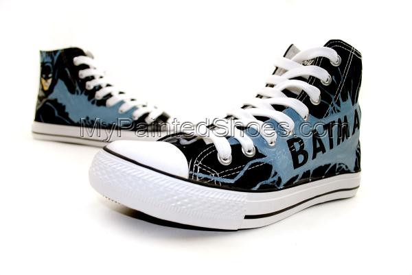 Batman:The Dark Knight Rises Custom Hand Painted Canvas Shoes-2