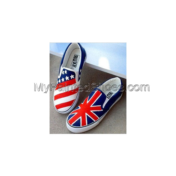 Flag Hand Painted Canvas Shoes Hand Painting Shoes