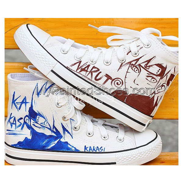 Hand Painting Shoes Naruto Uzumaki Hand Painted Canvas Shoes
