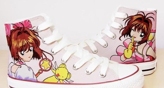 Cardcaptor Sakura Anime High Top Canvas Shoes Cardcaptor Sakura -1