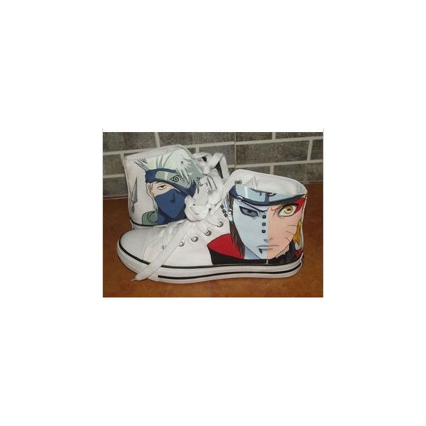 Naruto Anime Kakashi Hatake Naruto Uzumaki High Top Canvas Shoes