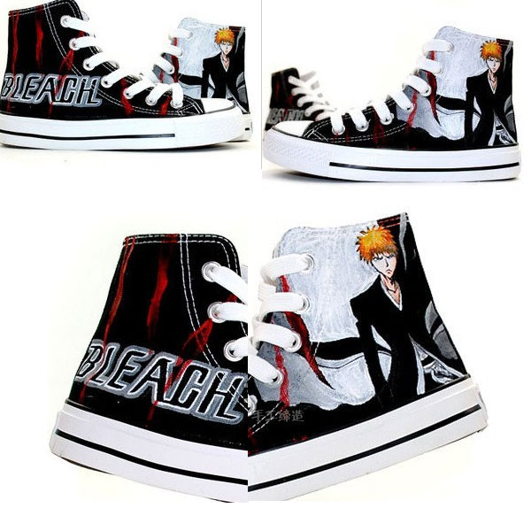 Bleach Ichigo Kurosaki Anime Shoes Painted Canvas Shoes
