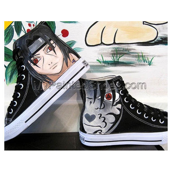Hand Painting Naruto Hand painted canvas shoes flat shoes studen