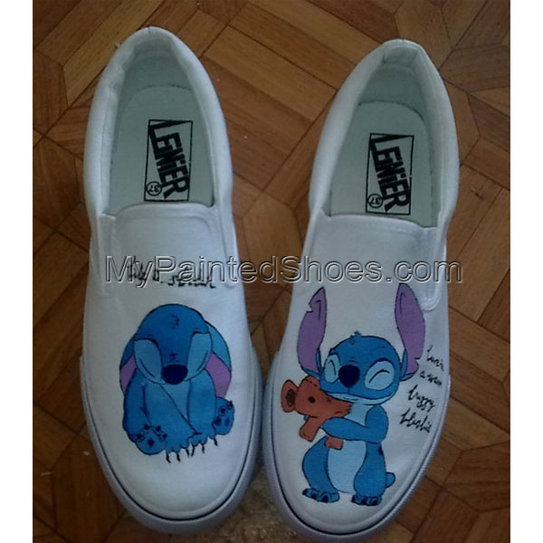 XT02 Lilo and Stitch Hand-painted Canvas Shoes Women Girl's Canv