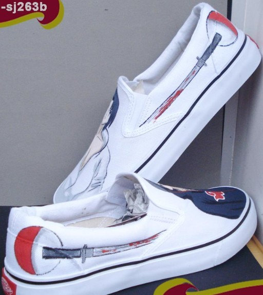 Naruto Uchiha Sasuke Painted Canvas Shoes Hand Painting Shoes-4