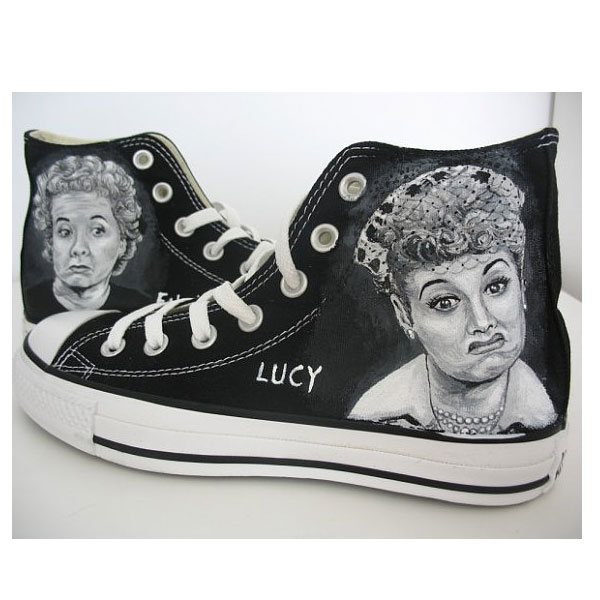 I love lucy Hand Painted Canvas Shoes