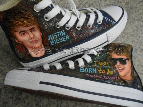 Justin Bieber high top sneaker Canvas Shoes-2