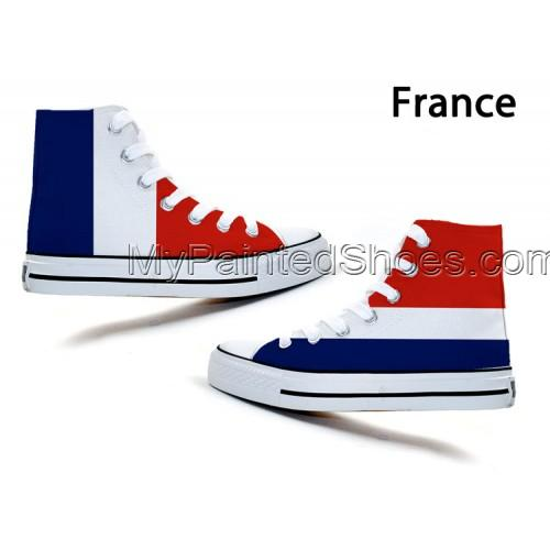 fashion Union Jack Stars and Stripes Stylish Doodle Canvas Shoes-2