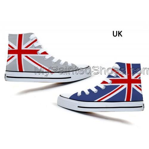 fashion Union Jack Stars and Stripes Stylish Doodle Canvas Shoes-3
