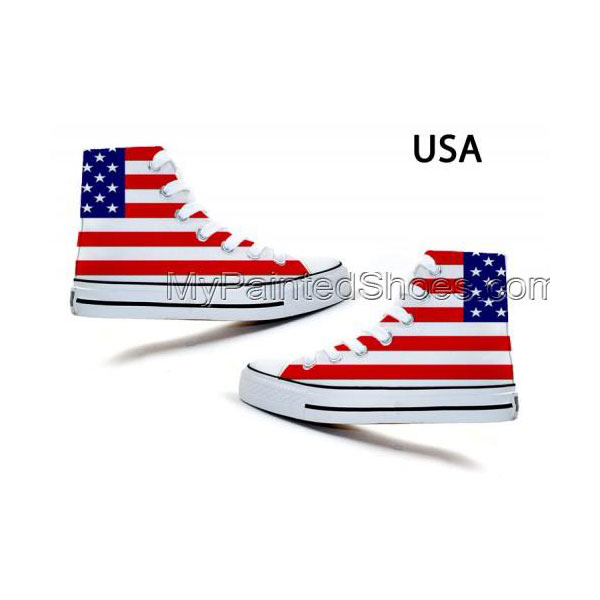 fashion Union Jack Stars and Stripes Stylish Doodle Canvas Shoes