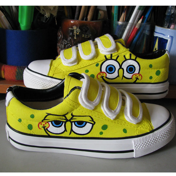 Spongebob Shoes Low-top Painted Canvas Shoes