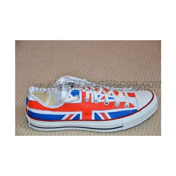 Hand Painted Union Jack Low-top Painted Canvas Shoes