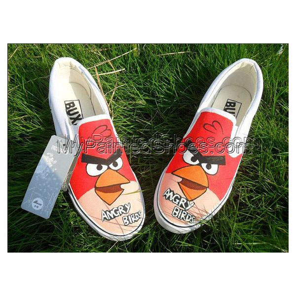 Angry Birds customed designed Shoes Painted Canvas Shoes