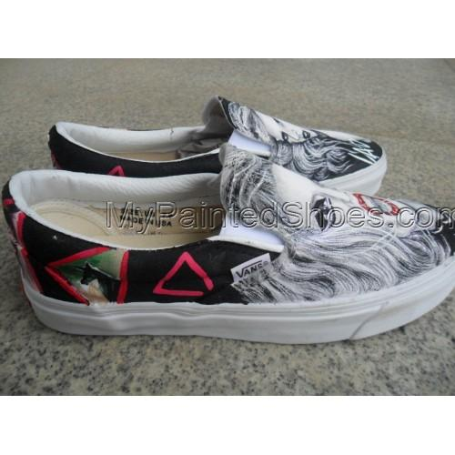 Slip-on Lady Gaga Born This Way Painted Canvas Shoes-1